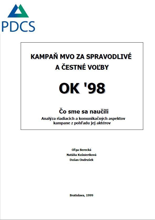 Kampaň MVO za spravodlivé a čestné voľby OK '98